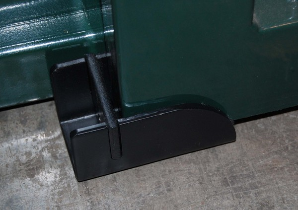 Floor Mounted Shoe Stop With Removable Plate
