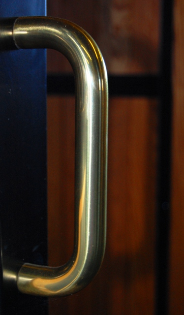Bolt Through Handle Solid Brass