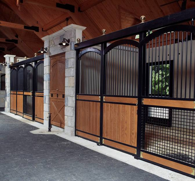 Horse barns and stalls horse stalls free standing for 2 stall horse barn kits