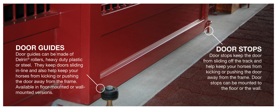 Sliding Door Track, Stops & Guides on
